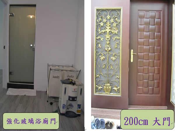 屏東強化玻璃門(浴廁門)